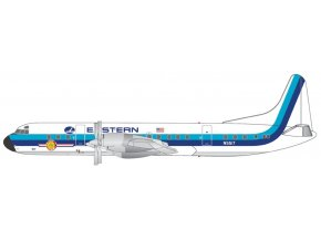 Gemini - Lockheed L-188 Electra, dopravce Eastern Air Lines, hockey stick livery, polished belly, USA, 1/400
