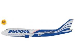 Gemini - Boeing B747-400BCF, dopravce National Airlines (klapky dolů), USA, 1/400