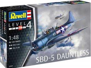 Revell - SBD-5 Dauntless Navyfighter, Plastic ModelKit 03869, 1/48
