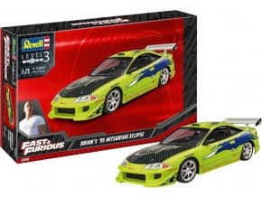 Revell - Fast & Furious Brian's 1995 Mitsubishi Eclipse, ModelSet 67691, 1/25