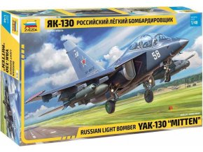 Zvezda - YAK-130 Russian Light Bomber, Model Kit 4818, 1/48
