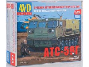 AVD Models - ATS-59G pásové terení vozidlo, Model kit 3007, 1/43