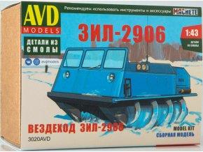 AVD Models -  ZIL-2906 obojživelné vozidlo, Model Kit 3020, 1/43