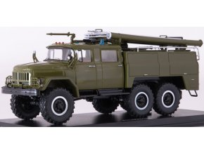 Start Scale Models - AC-40 (ZIL-131), Hasiči military, khaki, 1/43