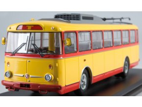 Start Scale Models - 9TR Škoda, trolejbus, žluto-červený, 1/43