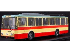 Start Scale Models - 14TR Škoda, trolejbus, žluto-červený, 1/43