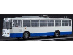 Start Scale Models - 14TR Škoda, trolejbus, bílo-modrá, 1/43