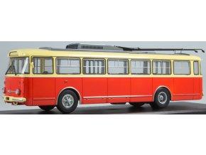 Start Scale Models - 9TR Škoda, trolejbus, červená-béžová, 1/43