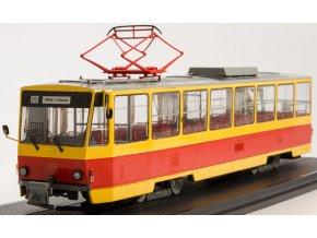 Start Scale Models - Tramvaj Tatra T6B5, červeno-žlutá, 1/43