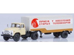 Start Scale Models - ZIL-130V1 s návěsem ODAZ-794, Běžovo-hnědá, 1/43