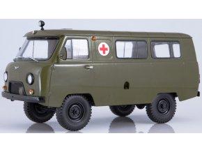 Start Scale Models - UAZ-425A Buchanka, Vojenská ambulance, 1/18
