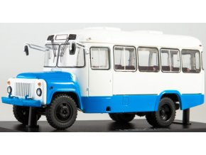 Start Scale Models - KAVZ-3270, autobus, bílo-modrý, 1/43