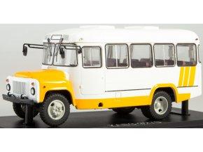 Start Scale Models - KAVZ-3270, autobus, bílo-žlutý, 1/43