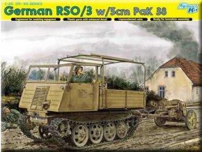 Dragon - GERMAN RSO/03 ARTILLERY TRACTOR w/5cm PaK 38 (SMART KIT), Model Kit 6684, 1/35