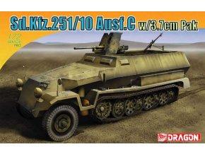 Dragon - Sd.Kfz.251/10 Ausf.C w/3.7cm PaK, Model Kit 7314, 1/72