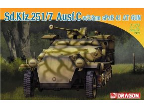 Dragon - Sd.Kfz.251/7 Ausf.C w/2/8cm sPzB41 AT Gun, Model Kit 7315, 1/72