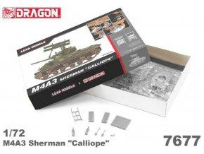 "Dragon - M4A3 Sherman ""Calliope"", Model Kit military 7677, 1/72"