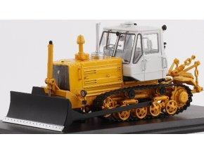 Start Scale Models - Caterpillar T-150, traktor s pluhem, 1/43