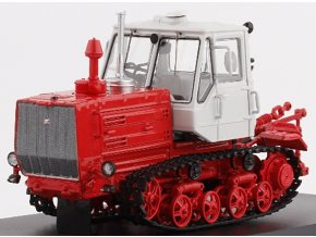 Start Scale Models - Caterpillar T-150, traktor, bílo-červený, 1/43