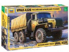 Zvezda - Ural 4320, Model Kit 3654, 1/35