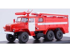 Start Scale Models - UrAL-43202, AC-40, hasiči, bílé pruhy, 1/43