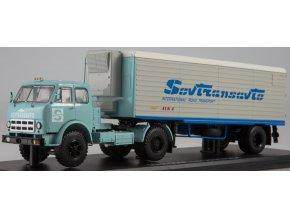 """Start Scale Models - MAZ-504A, nákladní s přívěsem ALKA N12CH """"Sovtransavto"""", 1/43"""