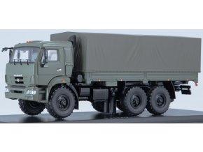 Start Scale Models - KAMAZ-43118 (facelift), valník s plachtou, khaki, 1/43