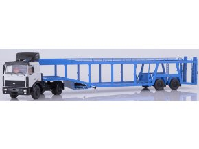 Start Scale Models - KAMAZ-6422 tahač s přepravníkem na auta MAZ-934410, 1/43