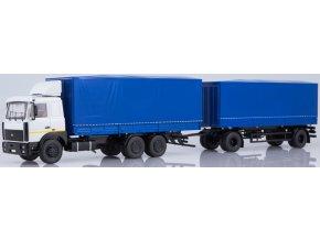 Start Scale Models - KAMAZ-6303 nákladní s přívěsem MAZ-83781, modrá, 1/43