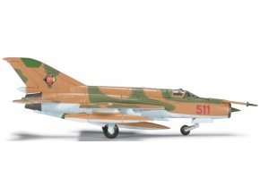 Herpa - MIG-21 Fishbed MF, východoněmecké letectvo, JG-1, Holzdorf, 1/200