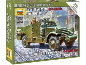 Zvezda - Soviet M-3 Scout Car with Machine Gun, Wargames (WWII) military 6273, 1/100
