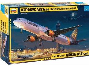 Zvezda - Airbus A321 CEO, Model Kit 7040, 1/144