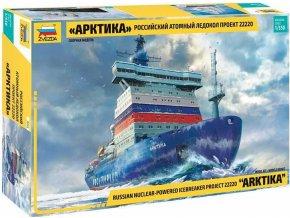 """Zvezda - """"Arktika"""" Russian Nuclear Icebreaker , Model Kit 9044, 1/350"""