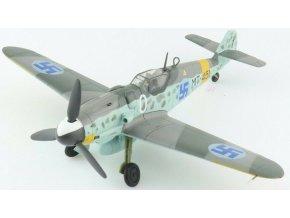 HobbyMaster - Messerschmitt Bf-109G, finské letectvo, 1/LeLv34, Eino Ilmari Juutilainen, Finsko, 1943, 1/48