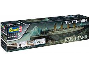 Revell - RMS Titanic, Plastic ModelKit TECHNIK loď 00458, 1/400