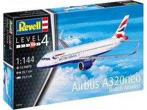 Revell - Airbus A320 neo British Airways, Plastic ModelKit 03840, 1/144