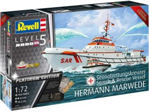 Revell -  Search & Rescue Vessel HERMANN MARWEDE Platinum Edition, Plastic ModelKit 05198, 1/72