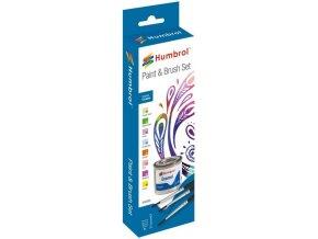 Humbrol sada emailových barev a štětců AA9063 - Creative