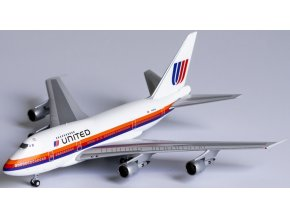 """NG Model - Boeing B747SP, dopravce United Airlines """"Saul Bass"""" livery, """" large 'UNITED' titles, USA, 1/400"""