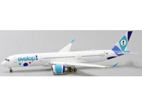 JC Wings - Airbus A350-900, dopravce Evelop Airlines, klapky dolů, Španělsko, 1/400
