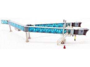 JC Wings - nástupní most pro cestující, dvouramenný set, Boeing 747, modrá, 1/200