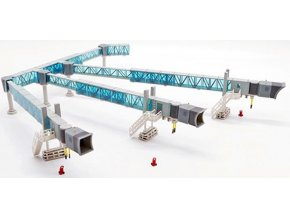 JC Wings - nástupní most pro cestující, tříramenný set A380, modrá, 1/200
