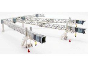 JC Wings - nástupní most pro cestující, tříramenný set A380, transparentní, 1/200