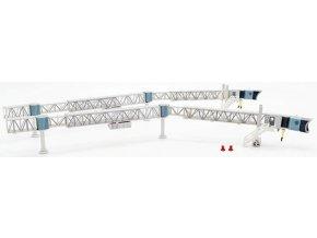 JC Wings - nástupní most pro cestující, 2 ks v setu, Boeing 737, transparentní, 1/200