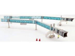 JC Wings - nástupní most pro cestující, 2 ks v setu, Boeing 737, modrý, 1/200