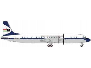 """Herpa - Iljušin Il-18V, dopravce Malév """"1960s"""" Colors, Maďarsko, 1/200"""
