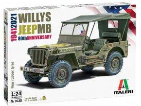 Italeri -  Willys Jeep MB, Model Kit auto 3635, 1/24