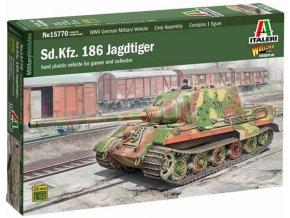 Italeri -  Sd.Kfz. 186 Jagdtiger, Wargames tank 15770, 1/56