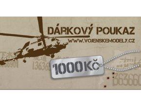 Dárková poukázka - hodnota 1000 kč