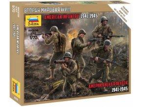 Zvezda - US Infantry, Wargames (WWII) figurky 6278, 1/72